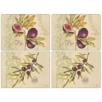 4 sets de table rectangulaires rigides olives figues pimpernel achat prix fnac. Black Bedroom Furniture Sets. Home Design Ideas