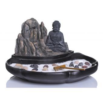 fontaine jardin zen fontaine bouddha avec statuette et accessoires achat prix fnac. Black Bedroom Furniture Sets. Home Design Ideas