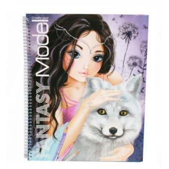 L 39 album de coloriage fantasy top model top prix fnac - Top model livre de dessin ...
