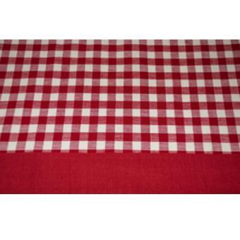 nappe rectangulaire coton vichy rouge 140 x 180 cm achat. Black Bedroom Furniture Sets. Home Design Ideas