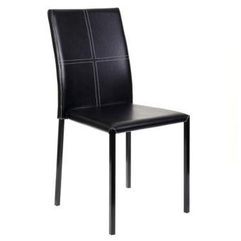 Chaise de salon elvio noir achat prix fnac for Chaise noir salon