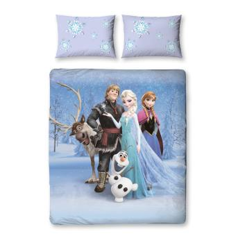 parure de lit double stellar la reine des neiges disney top prix fnac. Black Bedroom Furniture Sets. Home Design Ideas