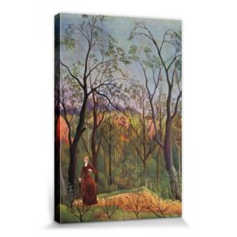 henri rousseau poster reproduction sur toile tendue sur ch ssis la promenade dans la for t. Black Bedroom Furniture Sets. Home Design Ideas