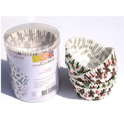 Image du produit ScrapCooking® - Moule en papier décoratif - Caissettes papier cupcakes : Noël
