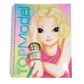 Album de coloriage visage sp cial make up top model top prix fnac - Coloriage top model visage ...