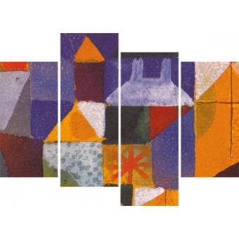 Paul klee poster reproduction sur toile tendue sur for Fenetre 80x120