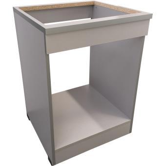 brandy best mpf60 b meuble plaque four 60 cm silver achat prix fnac. Black Bedroom Furniture Sets. Home Design Ideas