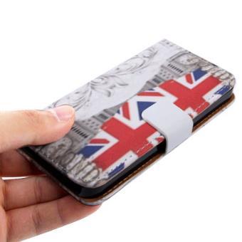 Iphone 5 5s coque housse en cuir pu noir drapeau for Housse en anglais