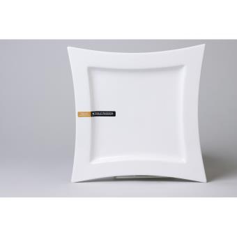 table passion assiette plate carree 25cm ellipse lot de 6 achat prix fnac. Black Bedroom Furniture Sets. Home Design Ideas