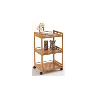 desserte en bambou avec roulettes 3 tag res meuble de cuisine roulant achat prix fnac. Black Bedroom Furniture Sets. Home Design Ideas