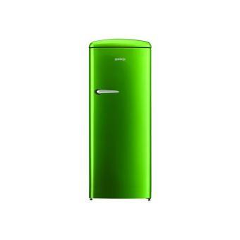 réfrigérateur avec compartiment freezer pose libre vert pomme
