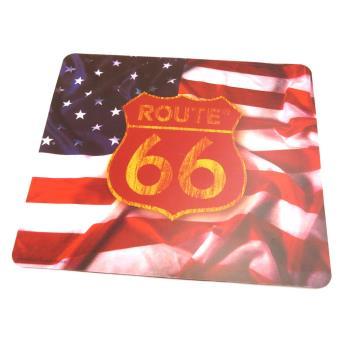 tapis de souris 39 route 66 39 drapeau us achat prix fnac. Black Bedroom Furniture Sets. Home Design Ideas