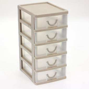 Bloc coffret tour boite de rangement 5 tiroirs plastique for Tiroirs de rangement cd ikea