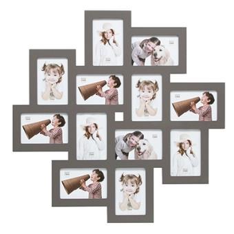 cadre multi vues big star pour 12 photos 10x15 gris fon top prix fnac. Black Bedroom Furniture Sets. Home Design Ideas