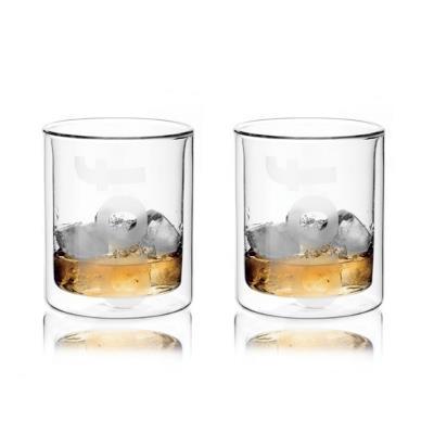 Image du produit viva scandinavia 9110120 2 verres à whisky double paroi borosilicate transparent 10 cm