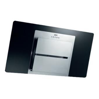 Franke fusion ffu 905 bk xs hotte d corative 90 cm inox et verre noir - Hotte decorative noire 90 cm ...