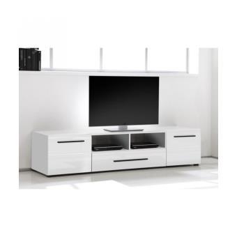 skin meuble tv 182 cm blanc achat prix fnac. Black Bedroom Furniture Sets. Home Design Ideas