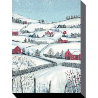 paysages de neige poster reproduction sur toile tendue sur ch ssis montagne hibernal avec. Black Bedroom Furniture Sets. Home Design Ideas