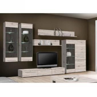 Savoy meuble tv mural avec clairage led 350x199 cm d cor for Nabou meuble tv mural 319x207 cm chene cendre