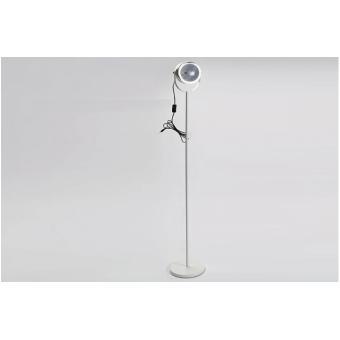lampadaire projecteur design en m tal chrom blanc 150 cm. Black Bedroom Furniture Sets. Home Design Ideas