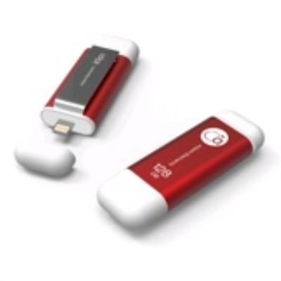 Cette clé à double interface Lightning / USB 3.0 a été spécialement pensée pour iPhone et iPad tout en étant compatible avec les plateformes iOS, PC et Mac, afin de partager facilement des fichiers, des sauvegardes de photos et pour lire des fichiers musi
