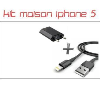 Kit 2 en 1 chargeur maison cable iphone 5s noir achat prix fnac - Chargeur iphone 6 fnac ...