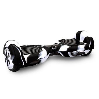 Housse de protection skatus hoverboard 6 5 blanc et noir for Housse hoverboard