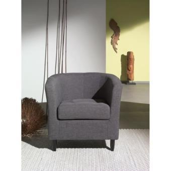 Orleans fauteuil cabriolet en tissu gris achat prix fnac for Jardin gris new orleans
