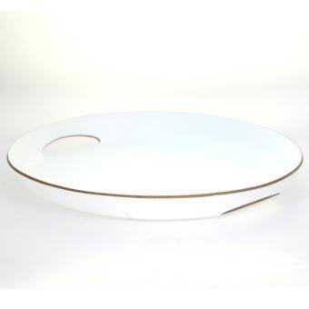 plateau repas ovale bois blanc acheter au meilleur prix. Black Bedroom Furniture Sets. Home Design Ideas