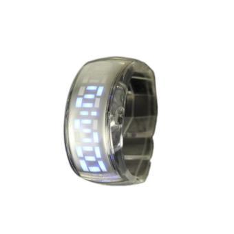 montre led homme femme design affichage bleu bracelet transparent achat prix fnac. Black Bedroom Furniture Sets. Home Design Ideas
