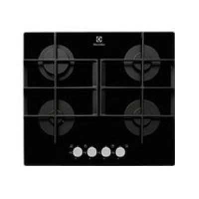 Electrolux EGT6342YOK table de cuisson au gaz - 60 cm - noir - vitrocéramique