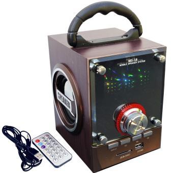 ms 18 multimedia speaker enceinte portable fm radio usb led sd t l commande achat prix. Black Bedroom Furniture Sets. Home Design Ideas