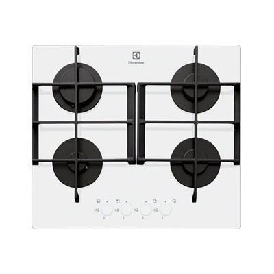 Electrolux EGT6342YOW table de cuisson au gaz - 60 cm - blanc - vitrocéramique