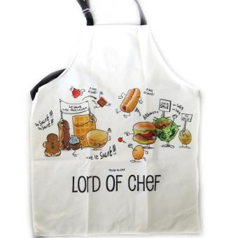 Tablier de cuisine 39 lord of chef 39 blanc achat prix fnac - Tablier blanc de cuisine ...