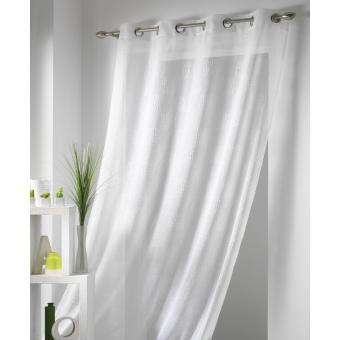 rideau voile 140x240 cm oeillets caraibe effet fils coton blanc achat prix fnac. Black Bedroom Furniture Sets. Home Design Ideas