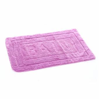 Tapis De Salle De Bain Purple 60 X 90 Cm Violet Clair Achat Prix Fnac