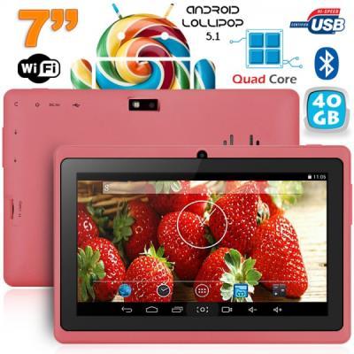 Cette tablette tactile 7 pouces sera l´équilibre parfait entre le choix de la puissance et de l´ergonomie. Equipée du système Android KitKat, elle utilise la puissance d´Android pour vous permettre de profiter au mieux de toutes ses fonctions. Cette table