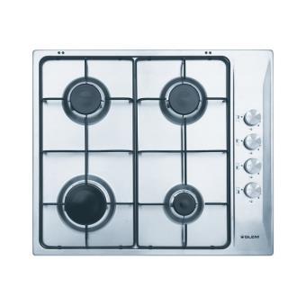 Glem gtl64ix table de cuisson au gaz 60 cm inox inox - Table de cuisson au gaz ...