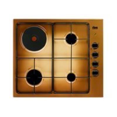 Faure FGM62444TA table de cuisson gaz et électrique - 60 cm - terre de France - Porcelaine émail