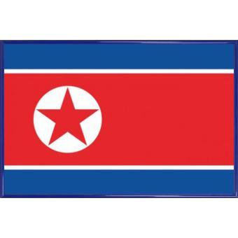 poster encadr cor e du nord drapeaux du monde 61x91 cm cadre plastique bleu top prix. Black Bedroom Furniture Sets. Home Design Ideas