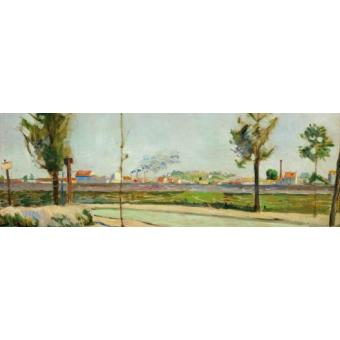 Paul signac poster reproduction la route de - 6 route du bassin n 1 port de gennevilliers ...