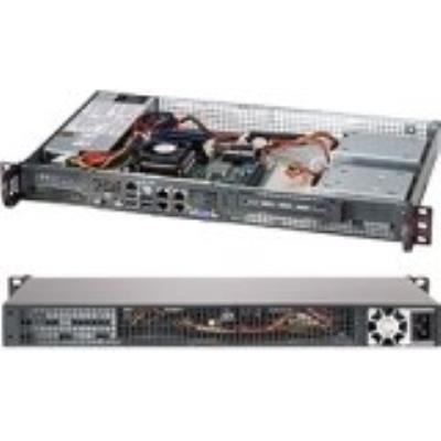 Supermicro CSE-505-203B. Types de mémoire pris en charge DDR4-SDRAM. Elément de format 1U. Alimentation dénergie 200W. Largeur 43,7 cm, Profondeur 24,9 cm, Hauteur 4,3 cm Caractéristiques - Nombre de processeurs pris en charge 1 - Types de mémoire pris en