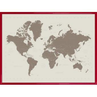 poster reproduction encadr cartes du monde contemporary stone 60x80 cm cadre plastique. Black Bedroom Furniture Sets. Home Design Ideas
