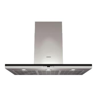 Siemens lc98bd540 hotte d corative 90 cm inox for Hotte decorative murale 90 cm siemens lc97bf532