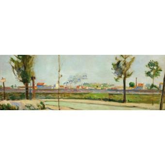 Paul signac poster reproduction sur toile tendue sur - 6 route du bassin n 1 port de gennevilliers ...