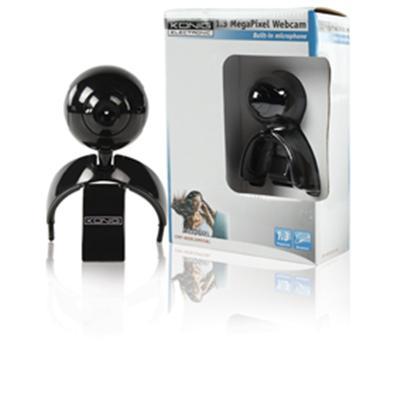 Webcam 1.3 MP futuriste avec capteur CMOS. Le pied multifonctionnel vous permet d´installer la caméra sur votre bureau ou de la clipser à un écran LCD. Son design souple vous permet d´installer la webcam dans toute position souhaitée. Avec microphone.