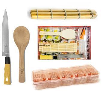kit coffret maki et sushi natte bambou cuill re riz couteau japonais achat prix fnac. Black Bedroom Furniture Sets. Home Design Ideas