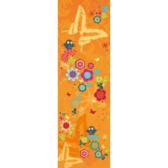 fleurs papier peint photo poster autocollant fantaisie florale avec hibous et papillons. Black Bedroom Furniture Sets. Home Design Ideas