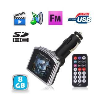 transmetteur fm video mp4 auto voiture usb carte sd mp3 8 go achat prix fnac. Black Bedroom Furniture Sets. Home Design Ideas