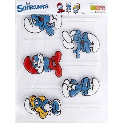 Image du produit ScrapCooking® - Moule pour chocolats - 5 sucettes Schtroumpfs